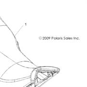 сиденье нижняя часть polaris 2684991-070
